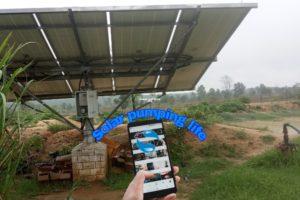 shakti solar pump control from mobile