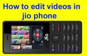Jio phone video editor online