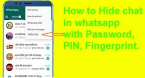 How to hide whatsapp chat with password.