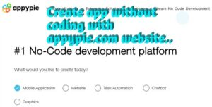 Make android app without coding with appypie