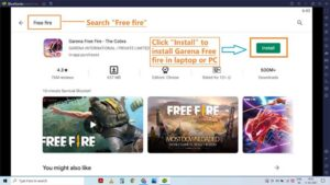 Install free fire on laptop and PC