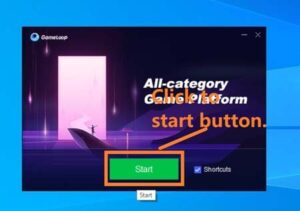 Open gameloop to download gareena free fire in a laptop or pc