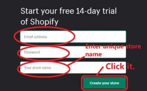 How to Create and set up shopify store