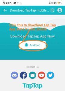 Download tap tap store to install korean pubg game