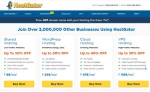 Hostgator hosting for wordpress