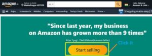 Start selling your items on amazon