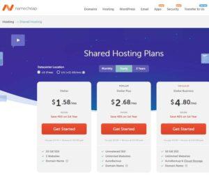 Namecheap - Best hosting for wordpress