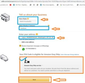 How to create amazon seller account to sell product on amzon