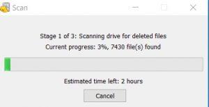 Scanning deleted data