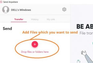 How to transfer file between two laptop wirelesssly
