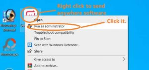 How to install send anywhere software for file transferring