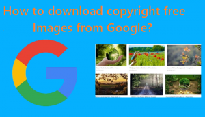 How to download copyright free image from google